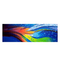 Canvas 72 X 24 Inch Waves Unframed Handpainted Art Painting
