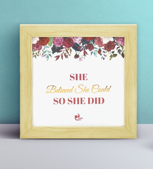 Buy Fibre 7 X 7 X 05 Inch She Believed She Could So She Did Royal
