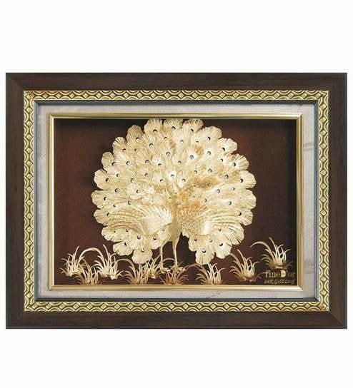 Finedor 24k Gold Leaf Frames Dancing Peacock Frame By Finedor Online