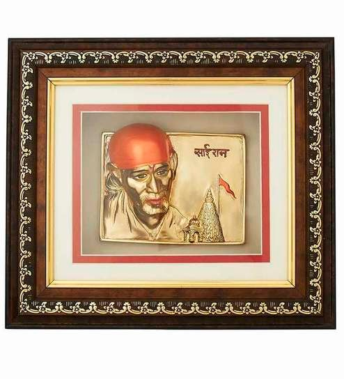 Buy Finedor Sai Baba Frame with LED Gold Frame Online - Nature ...