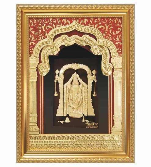 0337ead27145 Buy Finedor 24K Gold Leaf Frames Lord Balaji Golden Fancy Frame Online -  Spiritual Accents - Spiritual - Pepperfry