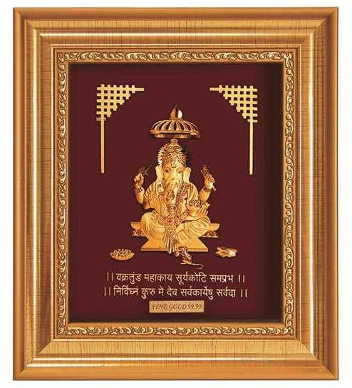 a9cdb7e69cd WE ARE SORRY BUT THIS ITEM IS OUT OF STOCK. We Have Put Together These  Similar Items For You. Have A Look. Finedor 24K Gold Leaf Frames Lord  Ganpati Golden ...