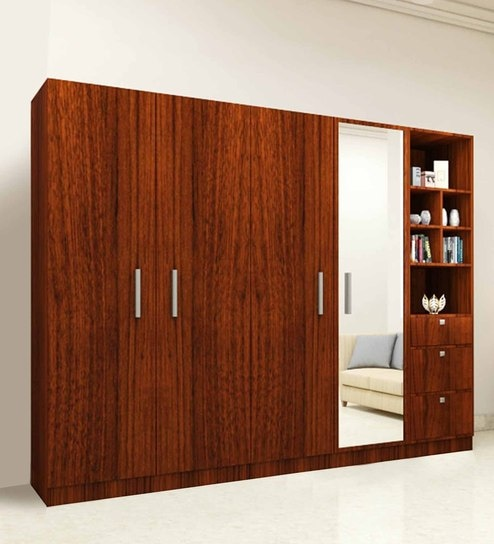 Five Door Wardrobe in Classic Walnut finish in PLPB by Primorati & Buy Five Door Wardrobe in Classic Walnut finish in PLPB by ...