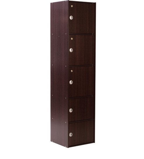 Takara Five Drawer Filing Cabinet In Dark Walnut Finish By Mintwud