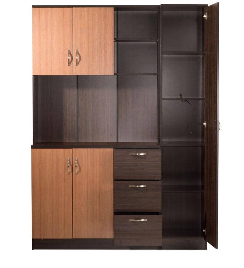 Buy Kitchen Cabinet Doors: Buy Minato Five Door Kitchen Cabinet With Three Drawers In