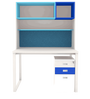 Fiamma Study Unit with Storage - V in Blue & White Colour by UNiCOS