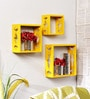 Home Sparkle Engineered Wood Yellow Shelve - Set of 3