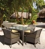 Fine Living Four Seater Outdoor Dining Set by Loom Crafts