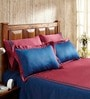 Fisher West NY Cilantro Patchwork Red Cotton Abstract King Bed Sheet (with Pillow Covers) - Set of 5