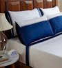 Cilantro Patchwork White Cotton King Size Bed Sheet- Set of 5 by Fisher West NY