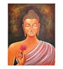 Fizdi Canvas 18 x 0.2 x 24 Inch Meditation Buddha Unframed Art Painting