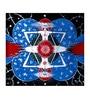 Fizdi Canvas 24 x 0.2 x 22 Inch Universal Harmony Unframed Art Painting
