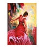 Fizdi Canvas 24 x 0.2 x 35.2 Inch My Red Gown Unframed Art Painting