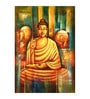 Fizdi Canvas 24 x 0.2 x 36 Inch Buddhism Art 4 Unframed Art Painting