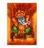 Fizdi Canvas 24 x 0.2 x 36 Inch Ganesha Art 2 Unframed Art Painting