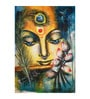 Fizdi Canvas 24 x 0.2 x 36 Inch Krishna with Flute Unframed Art Painting