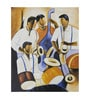 Fizdi Canvas 24 x 0.2 x 36 Inch Music Troop Unframed Art Painting