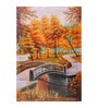 Fizdi Canvas 24 x 0.2 x 36 Inch Orange Tree & Bridge Unframed Art Painting