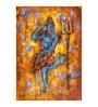 Fizdi Canvas 24 x 0.2 x 36 Inch Shiv Tandav Abstract View Unframed Art Painting
