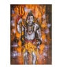 Fizdi Canvas 24 x 0.2 x 36 Inch Standing Shiva with Brown Background Unframed Art Painting