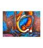 Fizdi Canvas 36 x 0.2 x 24 Inch Blue Shade Ganesha Unframed Art Painting