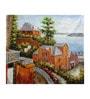 Canvas 36 x 0.2 x 32 Inch Venice 5 Unframed Art Painting by Fizdi