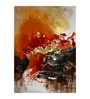 Fizdi Canvas 36 x 0.2 x 48 Inch Royal Abstract Unframed Art Painting