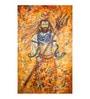 Fizdi Canvas 36 x 0.2 x 54.8 Inch Lord Shiva with Trishul Unframed Art Painting