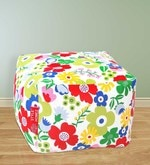 Floral Design Large Pouffe in Multicolour