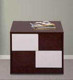 Florida Bedside Table in Walnut & Cream Colour
