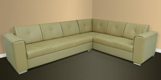 Flap Sectional Corner Sofa in Camel Colour