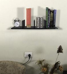 Floating Multi-Purpose Wall Shelf In Black Matte Finish