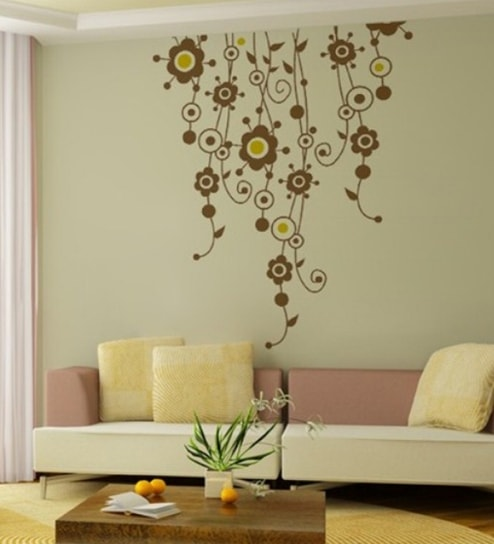 Wall Art Decor Fl Vines Sticker