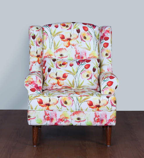 Flamingo Wing Chair In Floral Design By Cloud 9