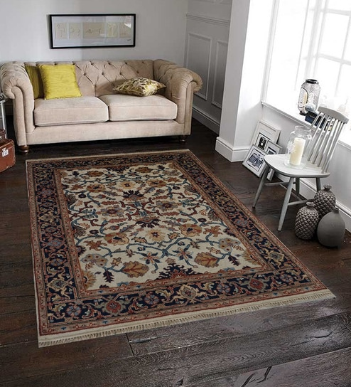 Blended Wool Hand Knotted Persian Rugs