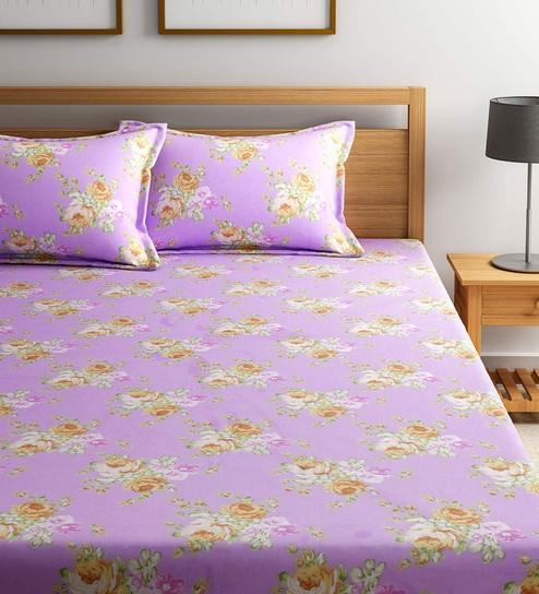mattress pattern. Floral Pattern 180 TC 100% Cotton King Size Bedsheet With 2 Pillow Covers By Bombay Mattress