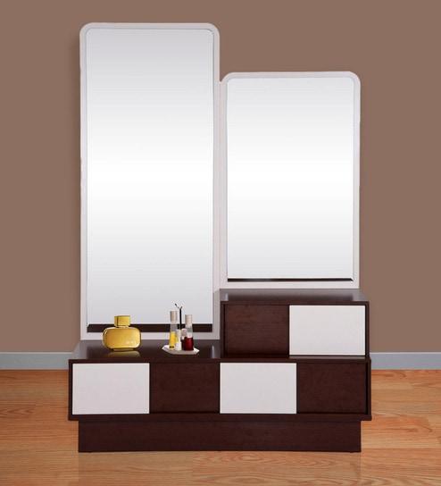 ac4f64532 Buy Florida Dressing Table in Walnut   Cream Colour by Evok Online ...