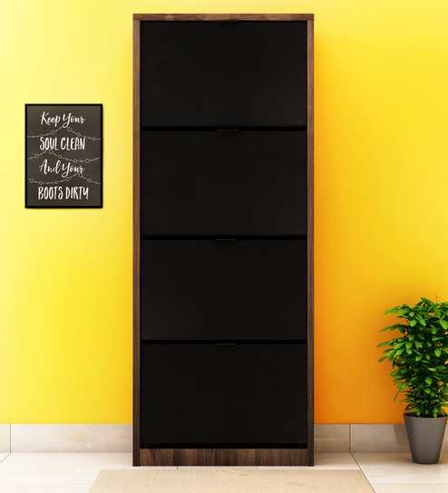 85f826b6c Buy Florine Four Door Shoe Cabinet in Walnut Colour by  home Online - Modern  Engineered Wood Shoe Racks - Shoe Racks - Furniture - Pepperfry Product