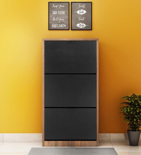 4c38079ad Buy Florine Three Door Shoe Cabinet in Walnut Colour by  home Online -  Modern Engineered Wood Shoe Racks - Shoe Racks - Furniture - Pepperfry  Product