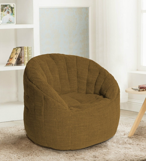 Amazing Firefly Bean Bag Chair With Beans In Gold Colour By Fluco Customarchery Wood Chair Design Ideas Customarcherynet
