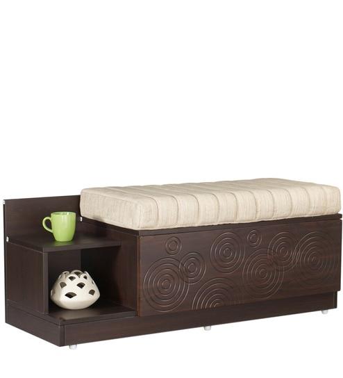 Flutter Seat Cum Storage Unit in Cinnamon Colour by Godrej Interio