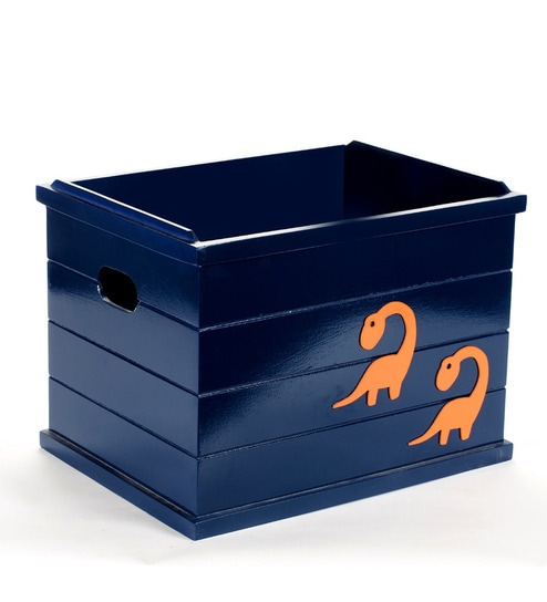 Flyfrog Kids Dinosaur Wood u0026 MDF Blue Storage Box  sc 1 st  Pepperfry & Buy Flyfrog Kids Dinosaur Wood u0026 MDF Blue Storage Box Online - Boxes ...
