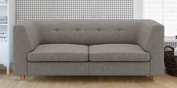 Flamingo 2 Seater Sofa in Grey colour by Adorn Homez