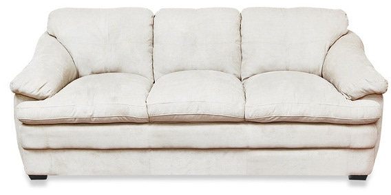 Fluffy Three Seater Sofa In Beige Finish By HomeTown