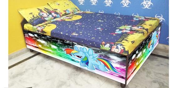 Pleasant Flying Rainbow Kids Bed In Multi Colour By Bigsmile Furniture Frankydiablos Diy Chair Ideas Frankydiabloscom