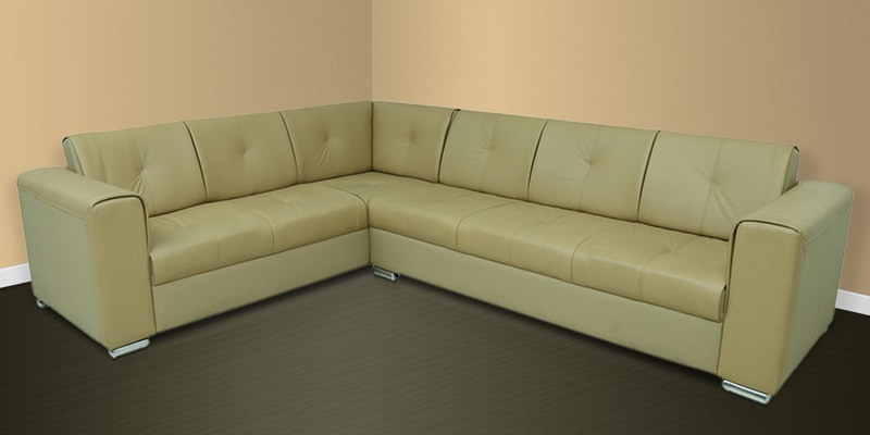 Buy flap sectional corner sofa in camel colour by star for Buy sectional sofa india
