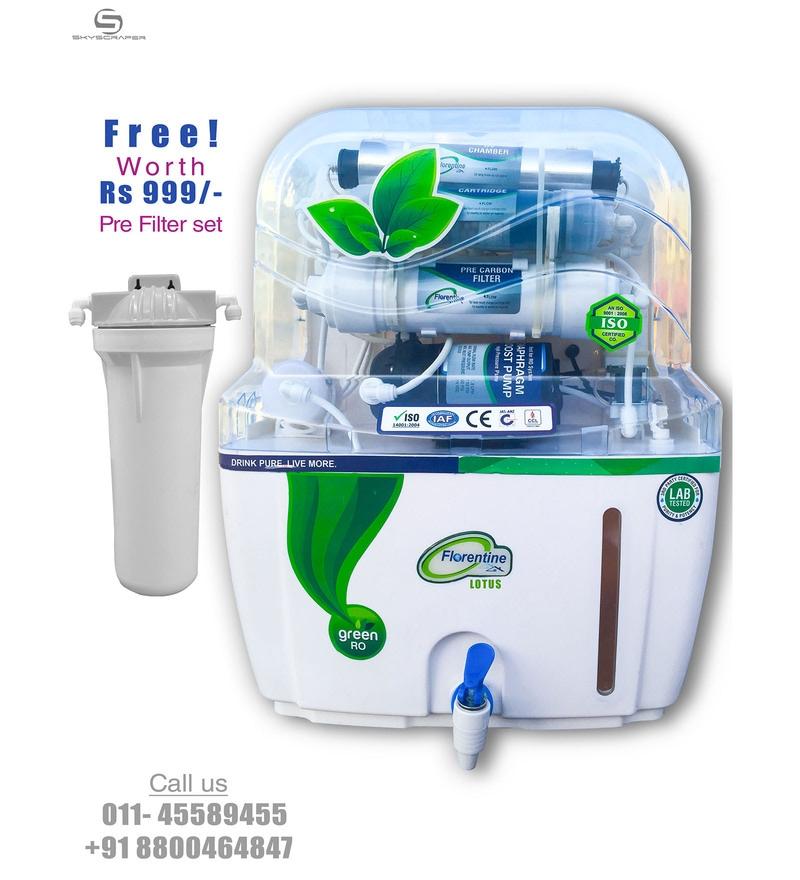 Florentine Homes Lotus 12 L RO + UV + UF Water Purifier