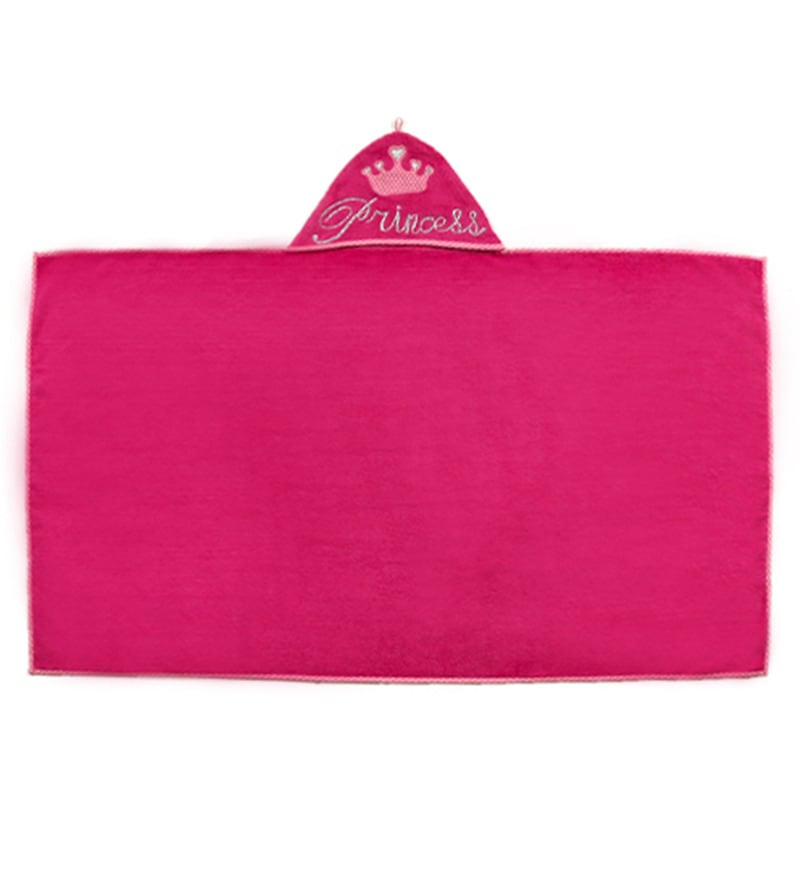 Kids Pink Cotton Kids Towel by FlyFrog