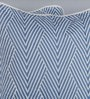 Indigo Cotton 24 x 24 Inch Chevron Special Cushion Covers - Set of 2 by Floor and Furnishings
