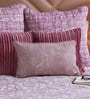 Floor and Furnishings Plum Cotton 20 x 12 Inch Summer Garden Cushion Cover